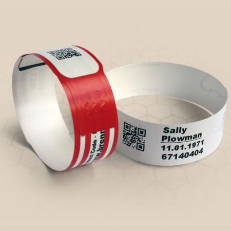 Brenmoor ECO100-Z white slim self sealing printable patient hospital bracelet