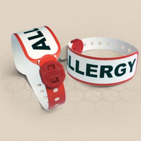 Brenmoor FAST ALLERGY red alert printable patient hospital bracelet