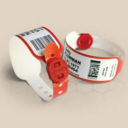 Brenmoor FAST100 red printable patient hospital bracelet