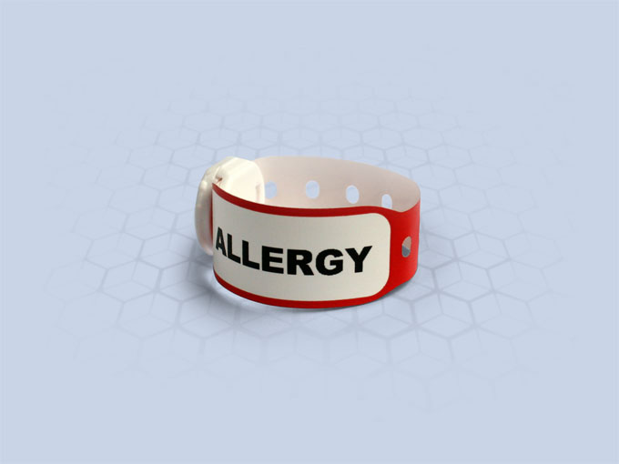 Brenmoor INFAFAST ALLERGY red printable patient hospital bracelet