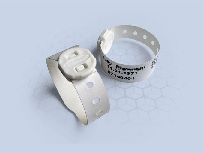 Brenmoor TODFAST white printable patient hospital bracelet