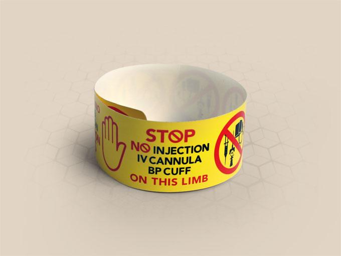 Brenmoor UNIVERSAL alert self sealing printable patient hospital bracelet
