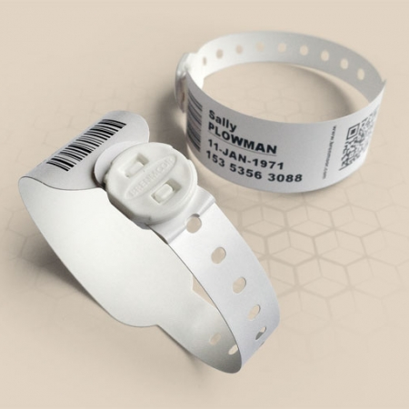 Brenmoor FAST100 white printable patient hospital bracelet