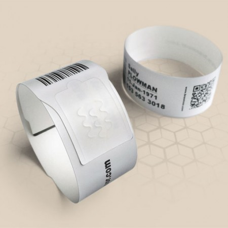 Brenmoor ECO100 white self sealing printable patient hospital bracelet