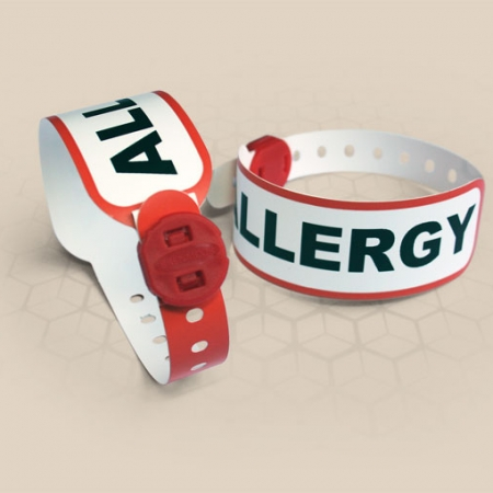 Brenmoor FAST ALLERGY red alert printable patient hospital bracelet