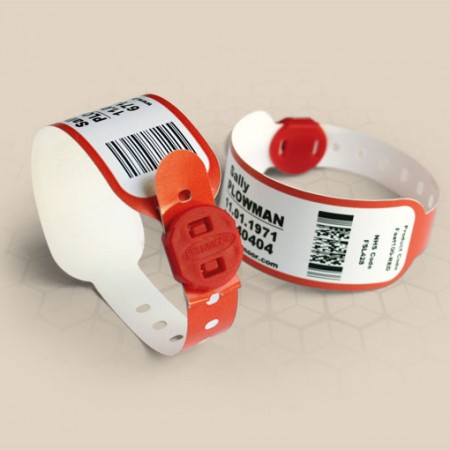 Brenmoor FAST100LCB red low cost printable patient hospital bracelet