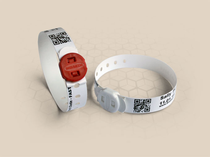 Brenmoor FAST15STB white slim SATO compatible printable patient hospital bracelet