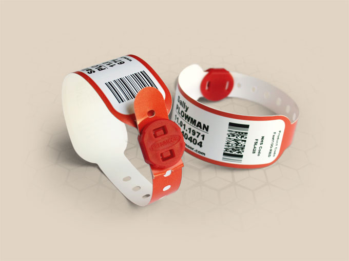 Brenmoor FAST1STB red SATO compatible printable patient hospital bracelet