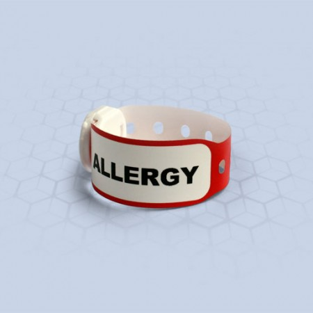 Brenmoor INFAFAST ALLERGY red printable patient hospital bracelet