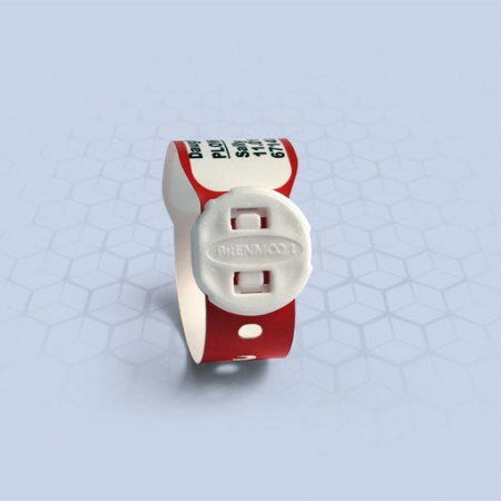 Brenmoor INFAFAST red printable patient hospital bracelet