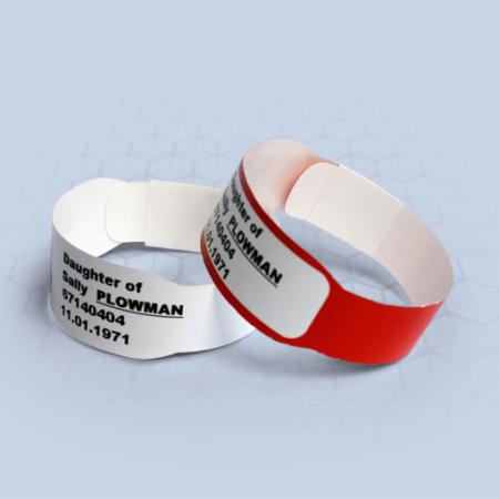 Brenmoor INFASOFT white extra care sticker seal printable patient hospital bracelet