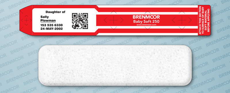 image relating to Hospital Bracelet Printable titled Brenmoor BABYSOFT 250 self-adhesive additional-comfortable toddlers