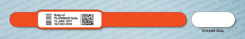 picture relating to Hospital Bracelet Printable identify Brenmoor INFA125 sticker-seal childs wristband
