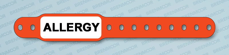 photograph about Hospital Bracelet Printable named Brenmoor INFAFAST ALLERGY pre-revealed notify childs wristband