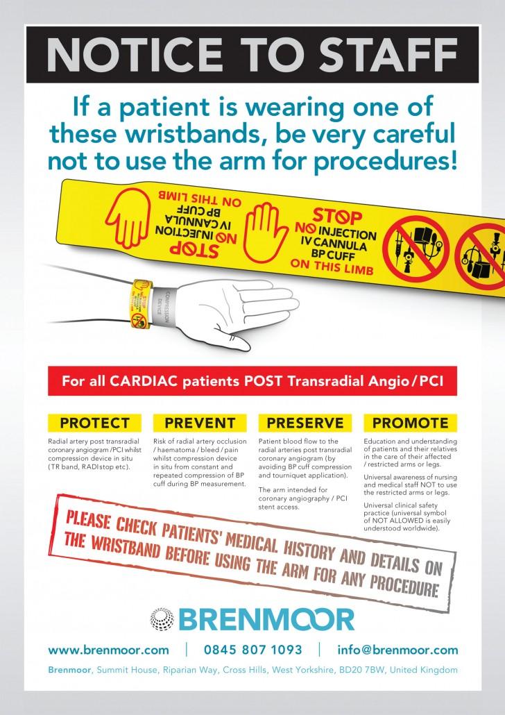 Brenmoor Universal Alert Printed Wristband