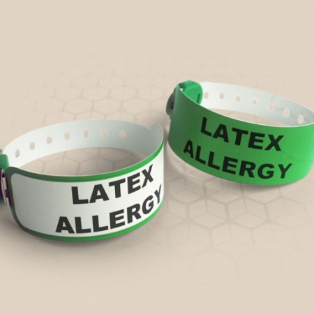 Brenmoor VIVID green coloured alert printable patient hospital bracelet