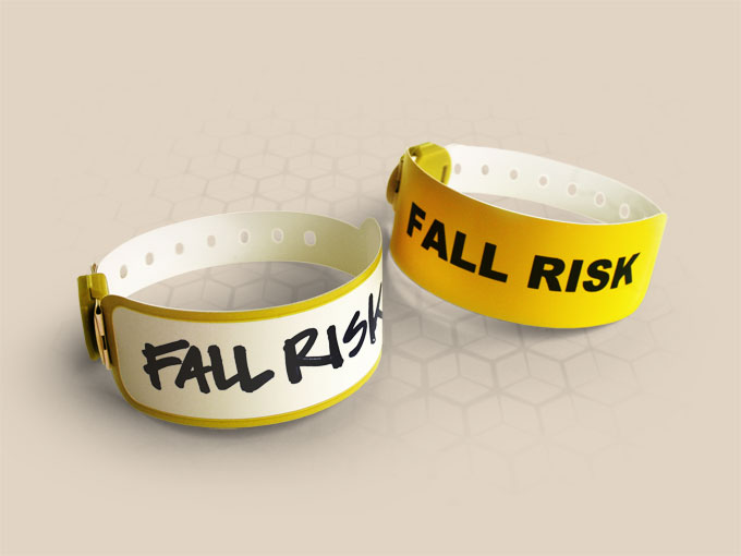 Brenmoor VIVID yellow coloured alert printable patient hospital bracelet