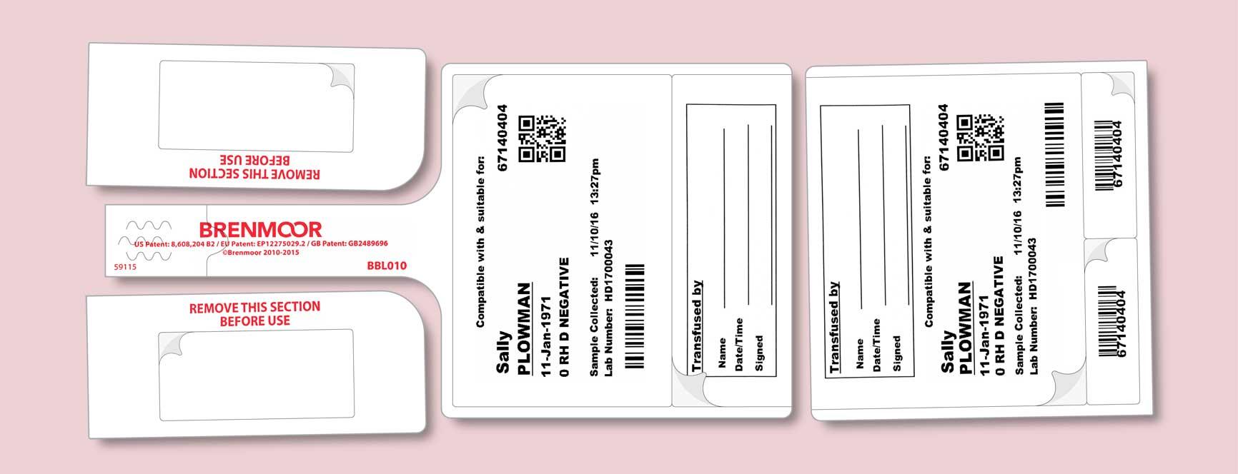 Brenmoor Blood Bag Tag Labels